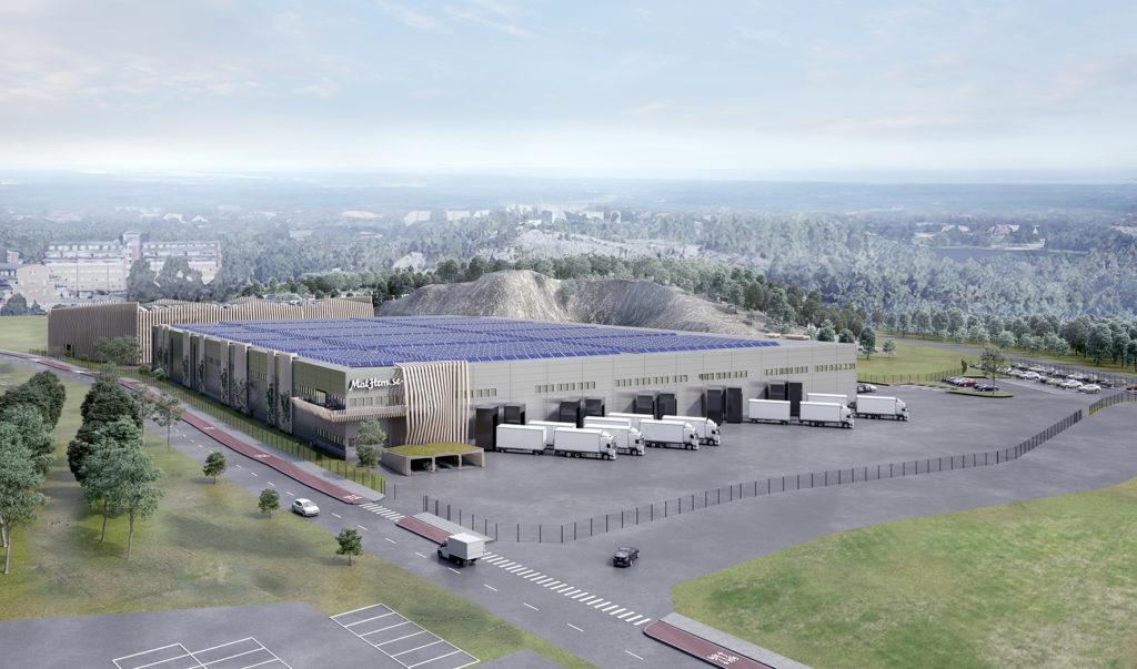 Logistic  Contractor bygger ett 32 000 kvm stort tvåvåninglager för Mathems räkning i Farsta.