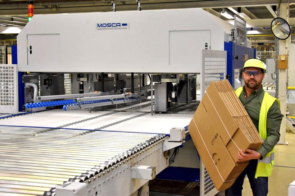 Stora Enso har lyft produktionslogistiken med nya bandingsmaskiner.